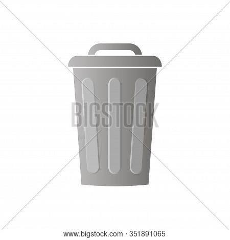 Trash Can Icon Vector Isolated On White Background