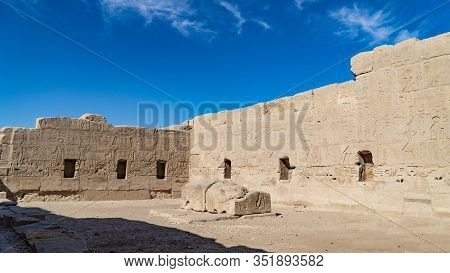 The Mortuary Temple Of Seti I Is The Memorial Temple Of The New Kingdom Pharaoh Seti I. It Is Locate