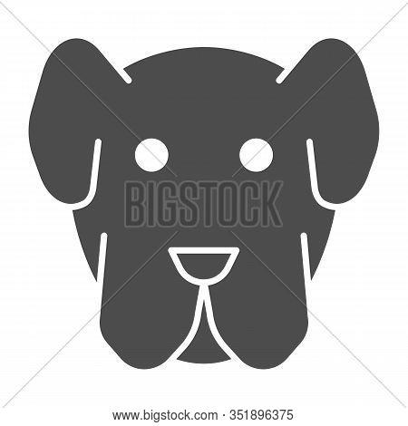 Dog Muzzle Solid Icon. Minimal Domestic Animal Face Symbol, Puppy Head Shape. Animals Vector Design