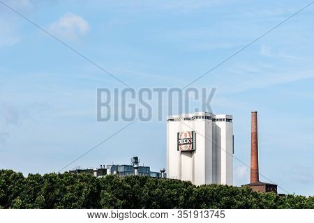Bremen, Germany - August 6 2019: Becks Brewery, Also Known As Brauerei Beck And Co Brewery In The No