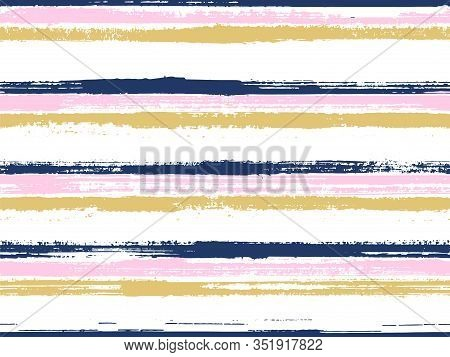 Stripes Geometric Textile Seamless Vector Pattern. Trendy Colors Design. Geometric Casual Print Desi