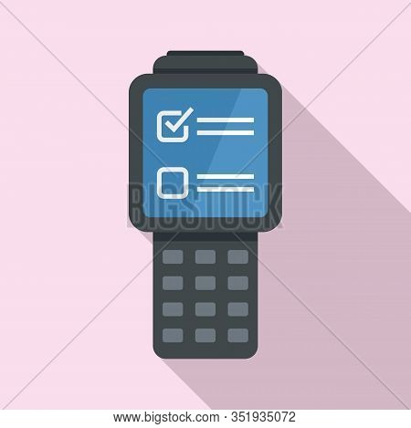 Inventory Check Device Icon. Flat Illustration Of Inventory Check Device Vector Icon For Web Design