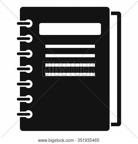 Inventory Notebook Icon. Simple Illustration Of Inventory Notebook Vector Icon For Web Design Isolat