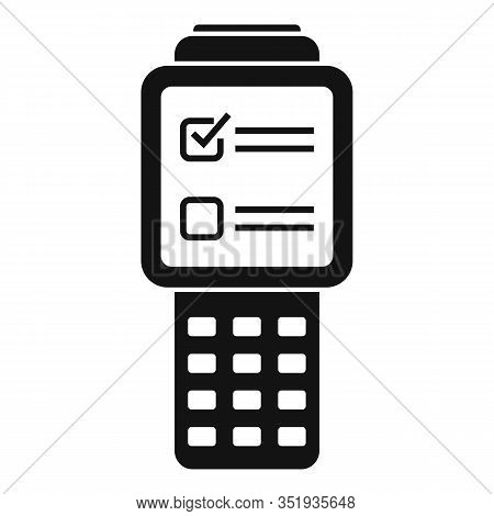 Inventory Check Device Icon. Simple Illustration Of Inventory Check Device Vector Icon For Web Desig