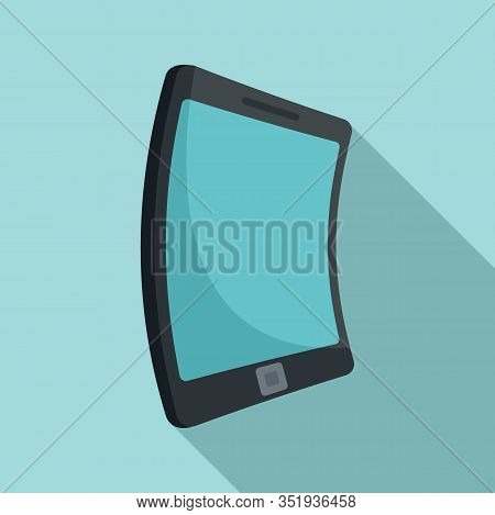 Electronic Flexible Display Icon. Flat Illustration Of Electronic Flexible Display Vector Icon For W