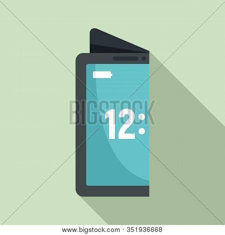 Creative Flexible Display Icon. Flat Illustration Of Creative Flexible Display Vector Icon For Web D