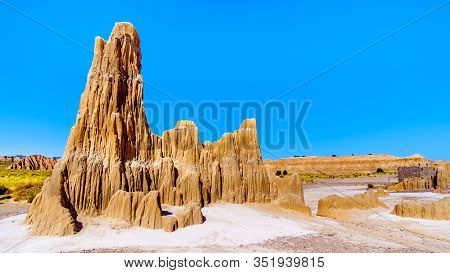The Dramatic And Unique Hoodoos Caused By Erosion Of The Soft Volcanic Bentonite Clay In Cathedral G