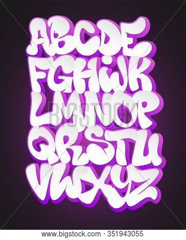 Vector Of Stylized Graffiti Font And Alphabet