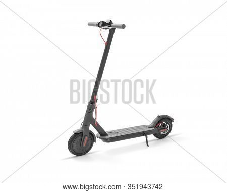 Eco alternative transport concept -Electric scooter on white background, including clipping path