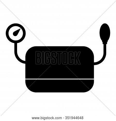 Blood Pressure Measuring Device Tonometer Apparatus Sphygmometer Aneroid Spygmos Icon Black Color Ve