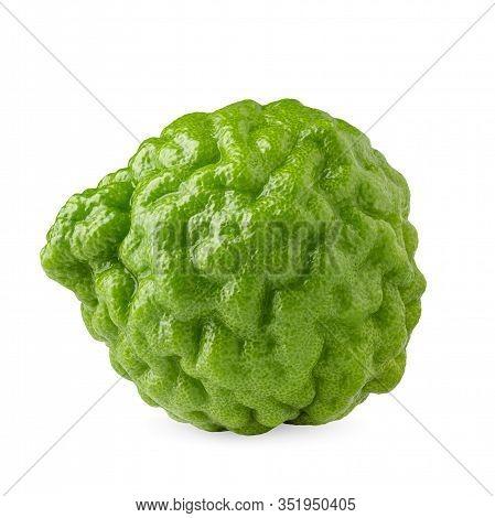 Bergamot Fruit, Bergamot Isolated On White Background