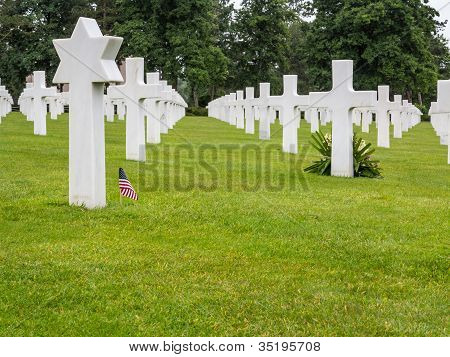 The American Cemetery At Omaha Beach, Normandy