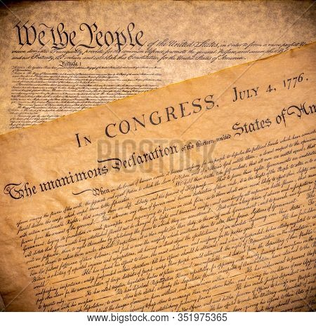 American founding documents. The constitution and Declaration of Independence.