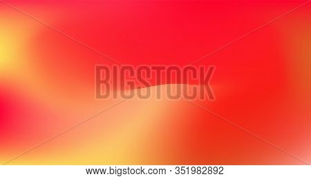 Red Yellow Pink Tropical Gradient Background. Elegant Colorful Vibrant Unfocused Horizontal Banner.