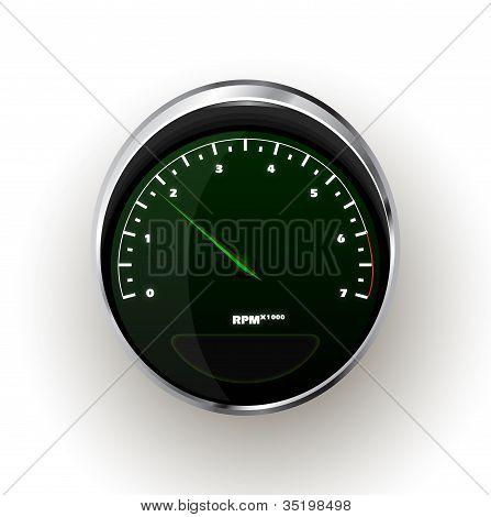 Vector realistic Tachometer