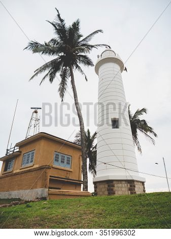 Toned Image Of Famous Lighthouse In Galle, Sri Lanka