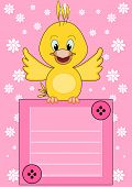 Welcome baby - cute little bird brings information poster