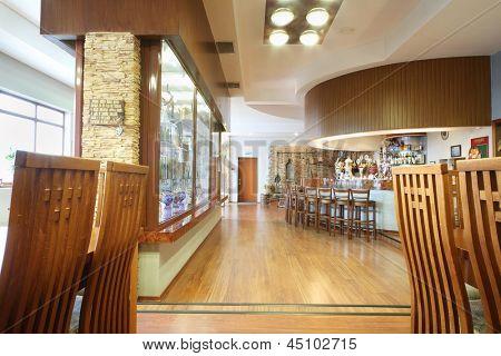 MOSCOW - MAY 31: Hall with bar in Ochakovo factory, May 31, 2012, Moscow, Russia. Ochakovo company has brands Ochakovo, Ochakovo Premium Black lung, Ochakovo Premium Lager, Barley ear, Kaltenberg