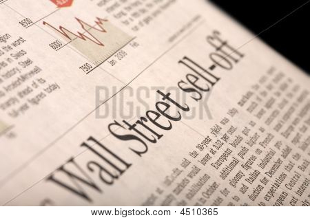 Wall Street Sell-off