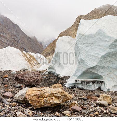 Seracs On The Baltoro Glacier