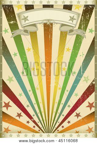 grunge multicolor. Un viejo cartel vintage americano para tu fiesta