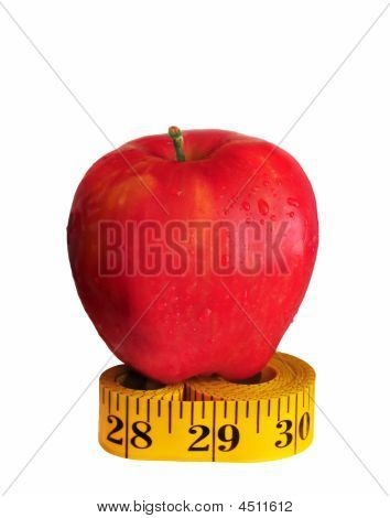 Apple On Measuring Tape