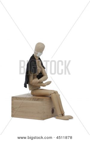 Wooden Man With Sick