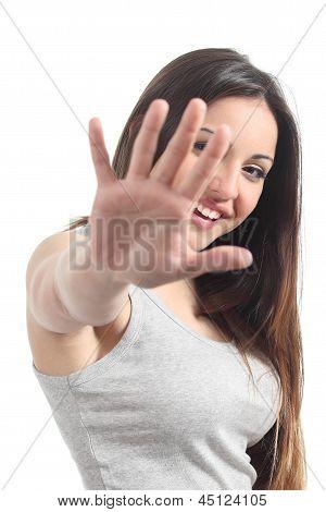 Beautiful Playful Teenager Saying No Photos