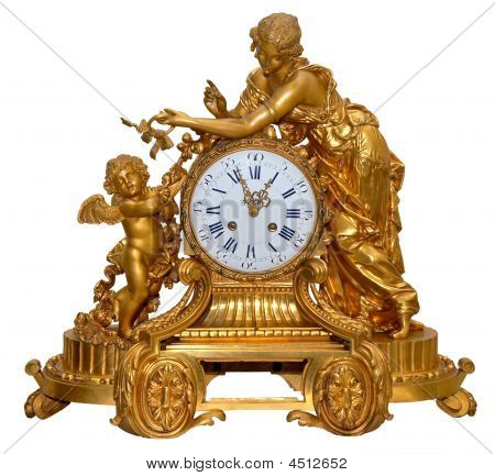 Antique Golden Table Clocks