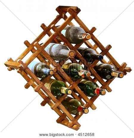 Wooden Stander For Vine Bottles