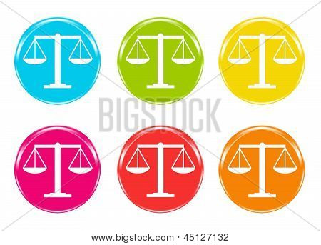Justice scale icons