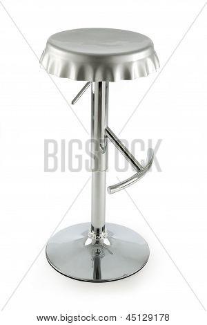 Bottle cap metal stool
