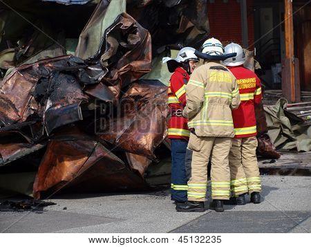 Firemen After The Fire