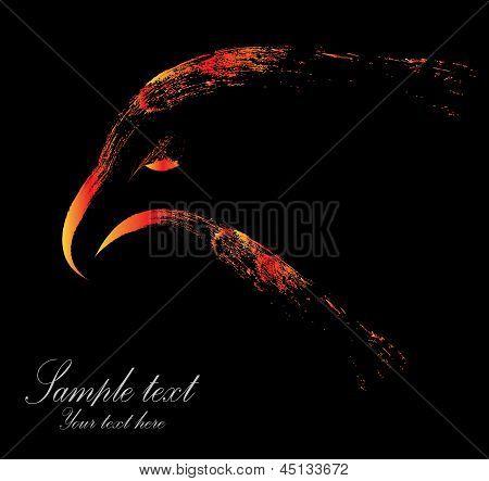 Vector image of eagle head
