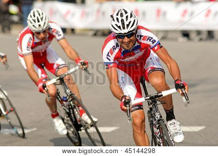 Barcellona - 24 marzo: Giampaolo Caruso del Katusha Team durante il giro di Catalogna ciclismo corse th