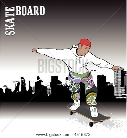Skateboarder Abstract