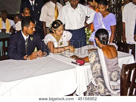 Typical Wedding Ceremony With Wedding Registry In The Hotel