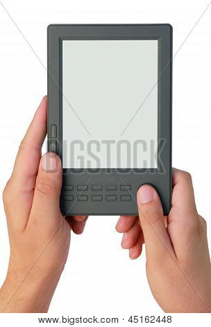 Abstract Electronic Book In Hands