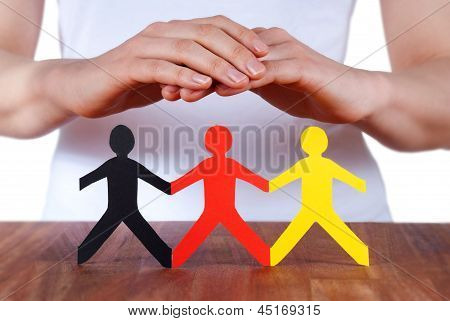 Hands Protecting People