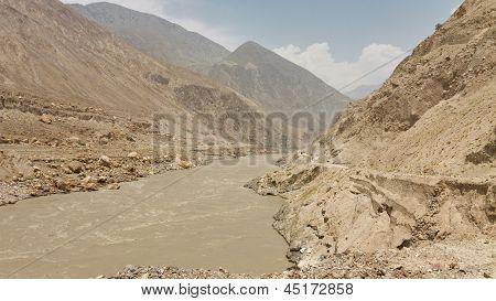 Raging Indus River, Pakistan