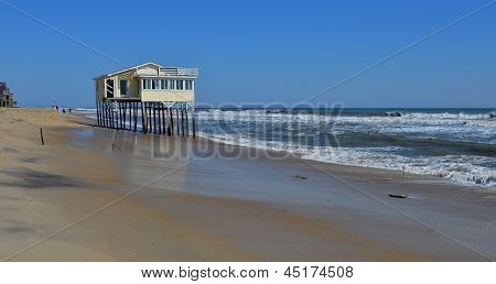 Oceanfront House Washout