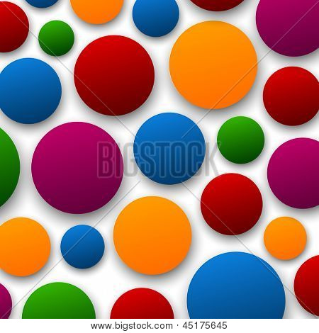 Vector abstract background composed of color paper bubbles. Eps10.