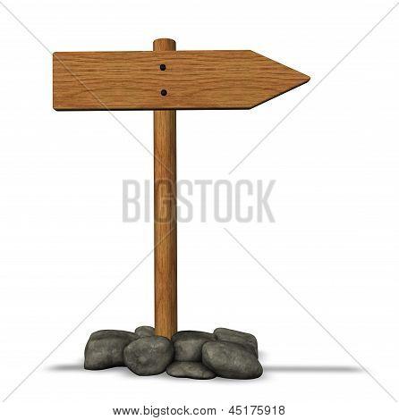 Wooden Roadsign