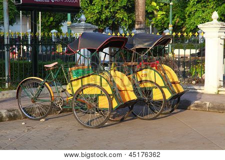 ndonesian Rickshaw (Becak)