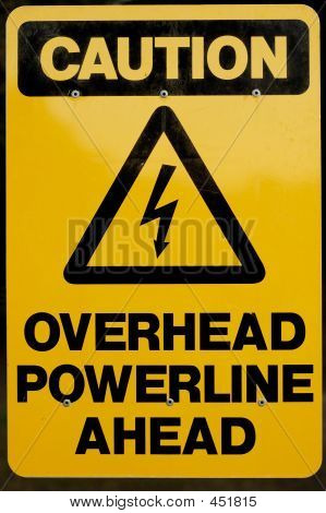 Overhead Powerline Ahead