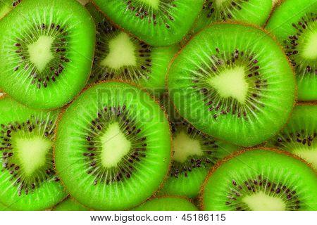 Kiwi slices as background