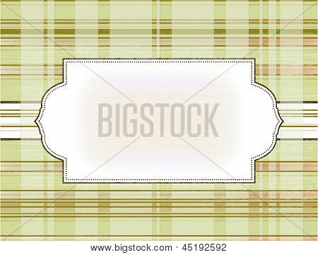 Frame On The Checkered Background