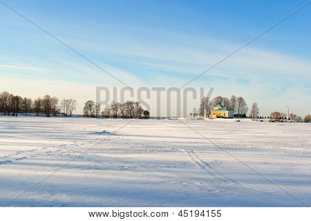 Peterhof Park In The Winter. Russia