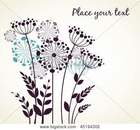 Dandelions flowers. Vector illustration