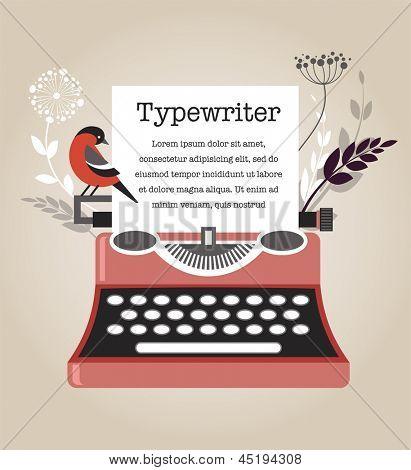 Vintage Vector Typewriter
